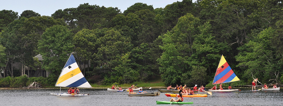 Campers have a great time out on the water.